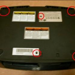 XBOX Case underside