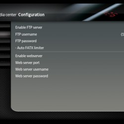 XBMC FTP server settings